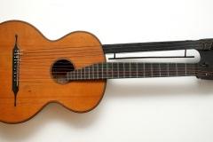 Schenk Fridrich, dvovrata deseterožičana gitara I. Padovca, 19. st., Beč, Austrija, Drvo, 93.5x37 cm