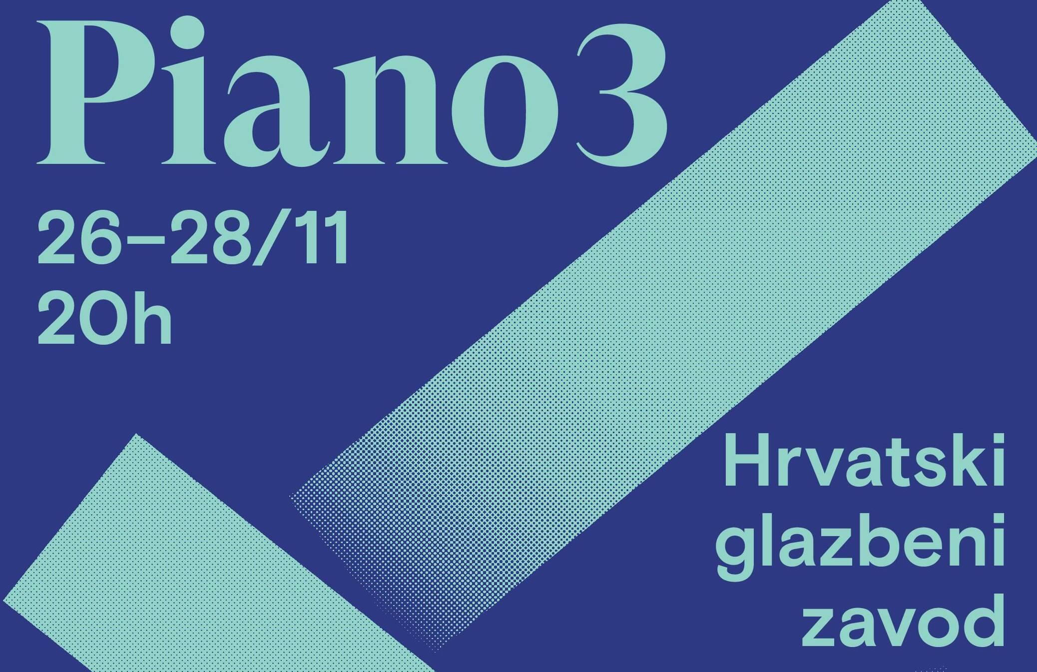 Glazbeni festival Piano3 u HGZ-u